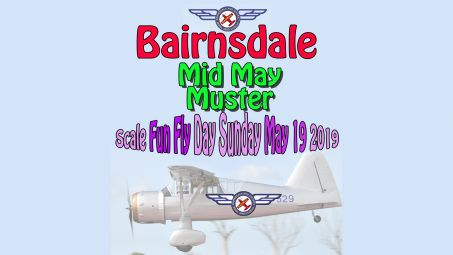 Mid May Muster Fun Fly Scale RC Model Aircraft Event, Sunday 19 May 2019